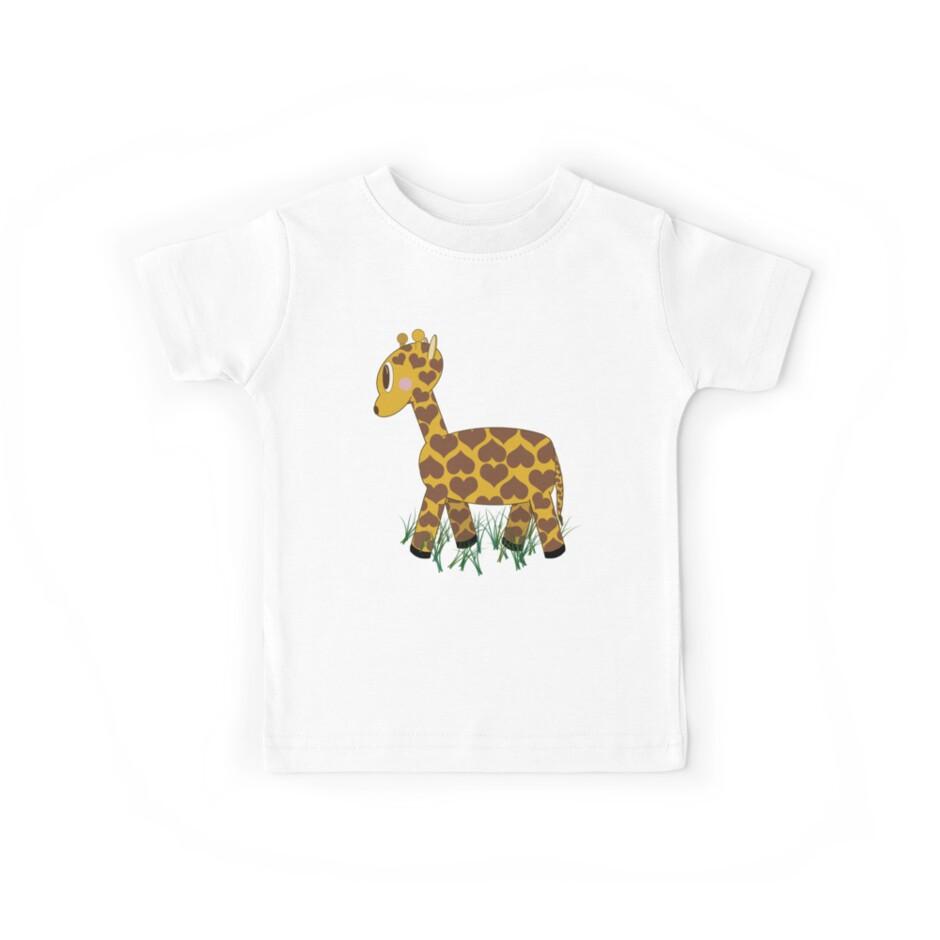 Giraffe in Grass by Chere Lei