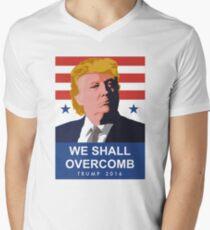 We Shall Overcomb Donald Trump 2016 Men's V-Neck T-Shirt