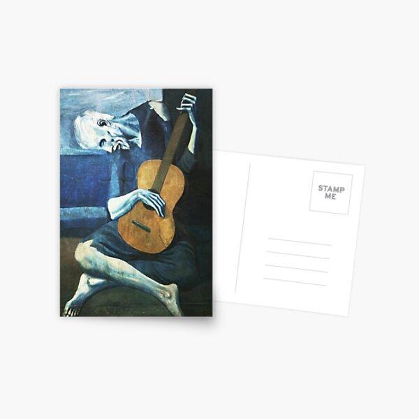 El viejo guitarrista pablo picasso Postal