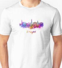 Bruges skyline in watercolor Unisex T-Shirt
