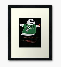 Stanley the Computer Programming Ghost Framed Print