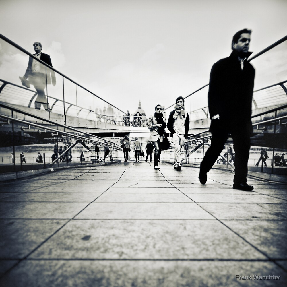 Walking Millenium Bridge by Frank Waechter