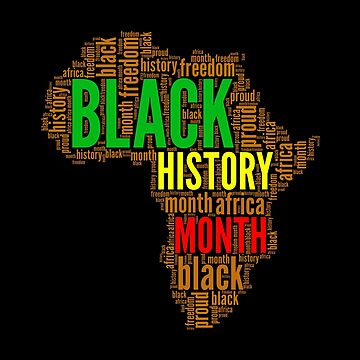 Africa Map Black History Month Word Art Typography by goodspy