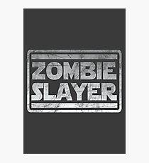 Zombie Slayer Photographic Print