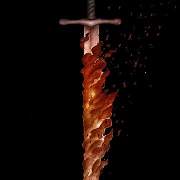 The flaming sword of SCP-001 (The Gate Guardian) by SCPillustrated