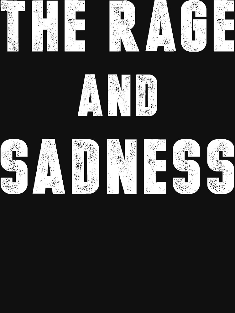 The Rage And Sadness (White Ink) by micahbournes
