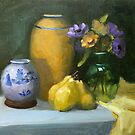 Three Yellow Pears by Inna Lazarev