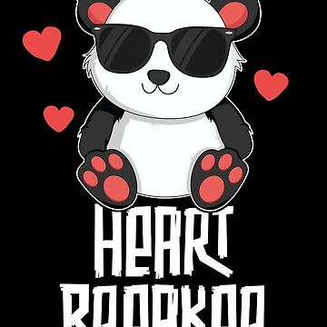 Heart Breaker Valentines Day T-Shirt for Kids Panda School by 14thFloor