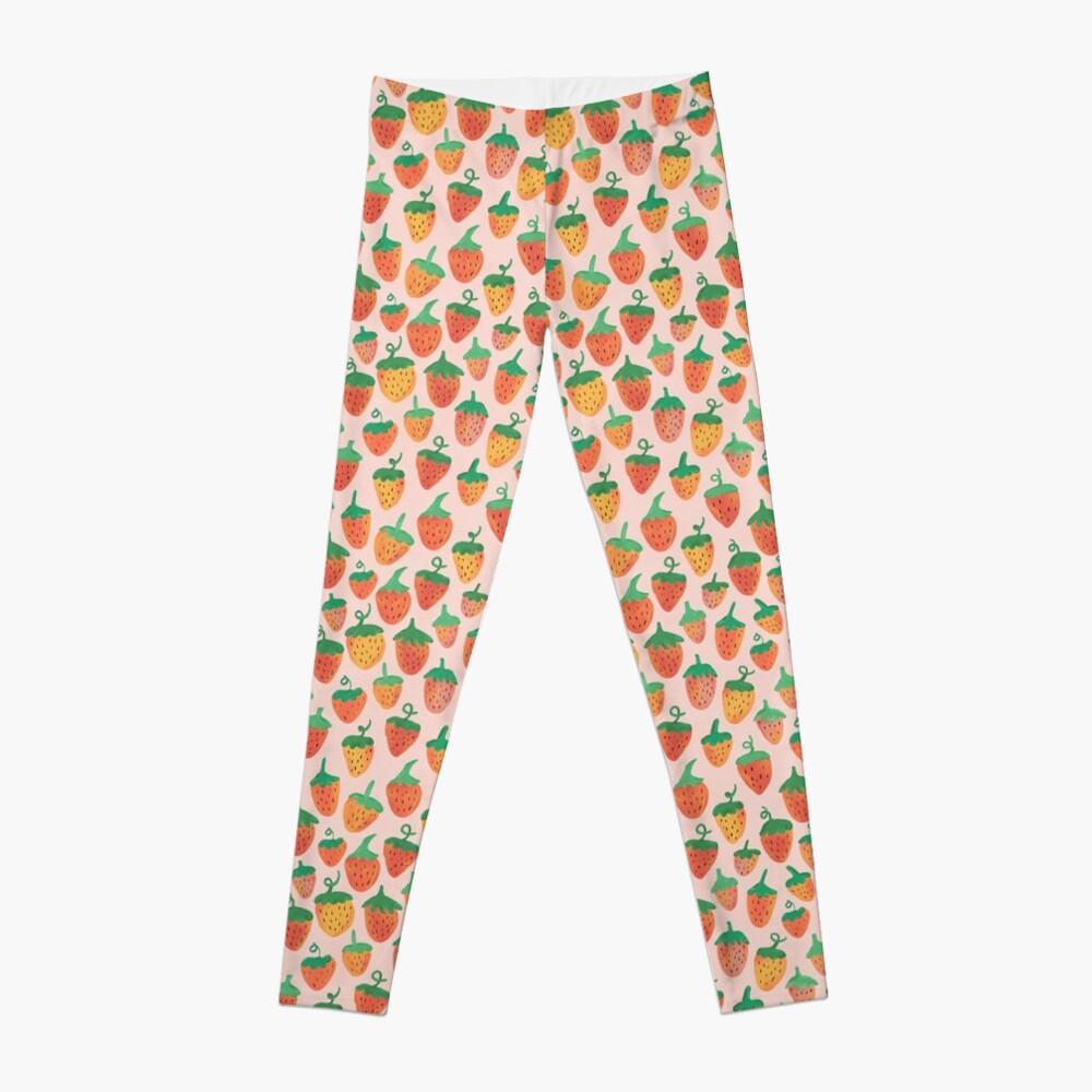 Painted Strawberries Leggings