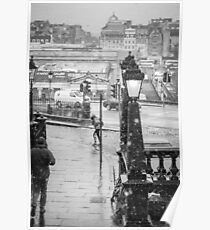 Snowfall in Edinburgh Poster