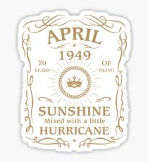 April 1949 Sunshine Mixed With A Little Hurricane Sticker
