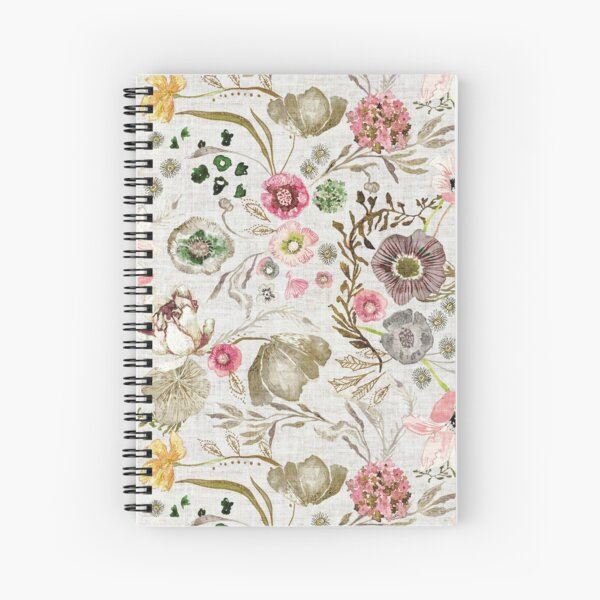 Atlantis Floral (golden)  Spiral Notebook