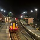 Crediton Station by night  by Rob Hawkins
