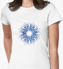 Vector Snowflake Women's Fitted T-Shirt