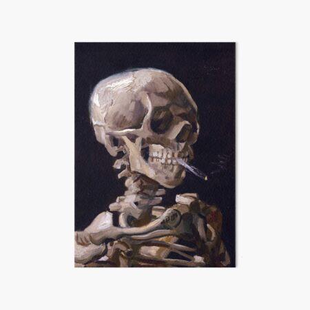 Vincent Van Gogh - Skull with Burning Cigarette (new color edit) Art Board Print