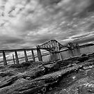 Forth Rail Bridge in B&W by Xpresso