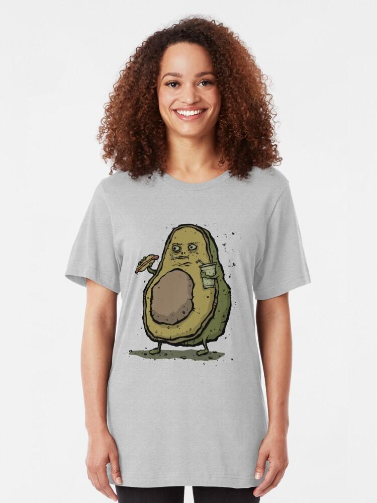 Alternate view of Unhealthy Avocado Slim Fit T-Shirt