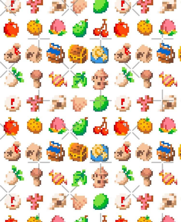 Animal Island Item Sprites Animal Crossing Pixel Art Ipad Case Skin