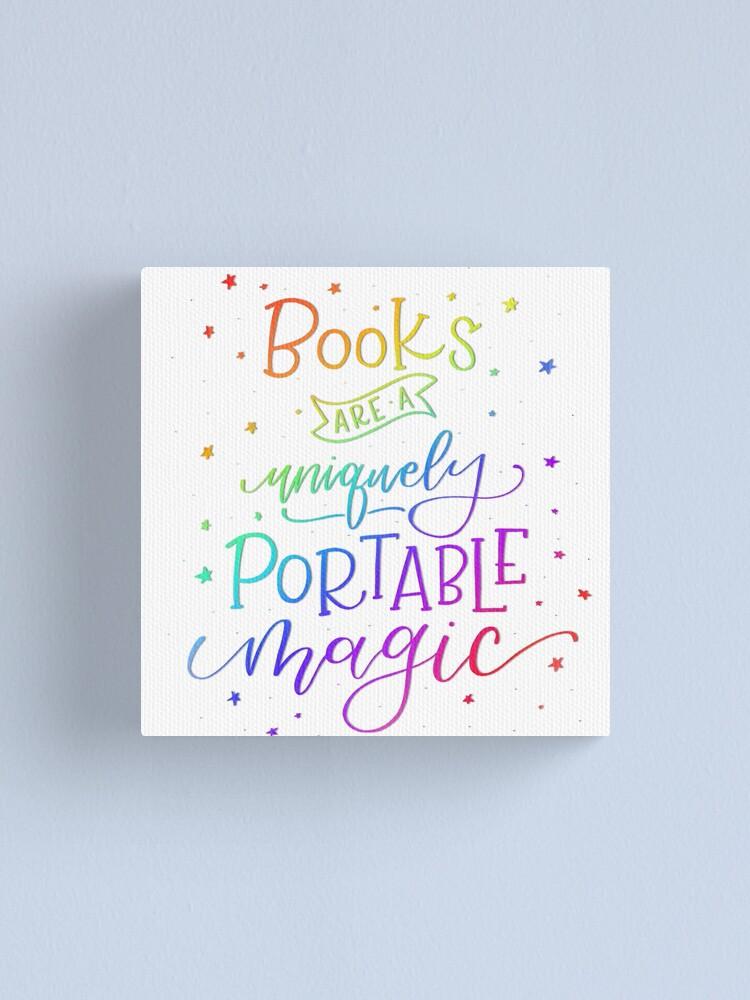 Alternate view of Books are Rainbow Magic Canvas Print