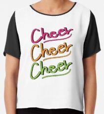 Cheer Cheer Cheer Chiffon Top