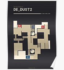 Counter-Strike de_dust2 Poster