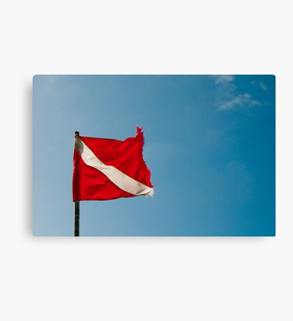 Diver Flag Canvas Print