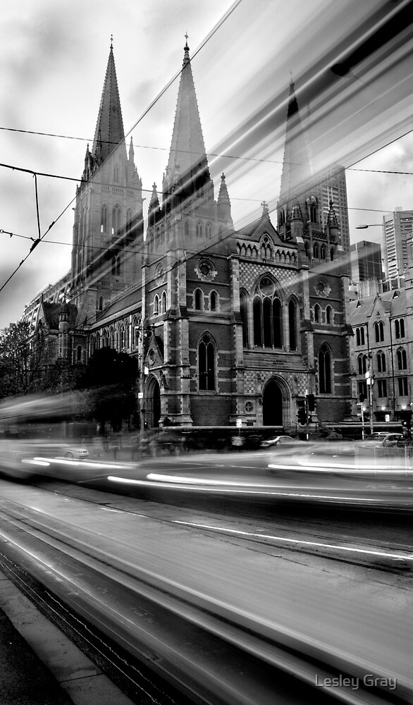 St Paul's Tram by Lesley Williamson