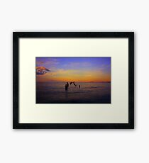 """Bridport Jetty at Sunset"" Framed Print"