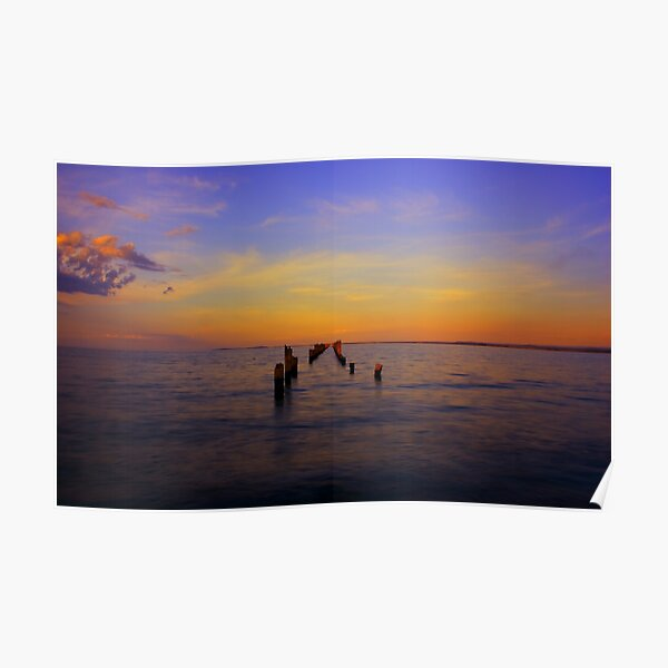 """Bridport Jetty at Sunset"" Poster"