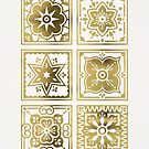 Talavera mexikanische Fliese - Gold Palette von Cat Coquillette