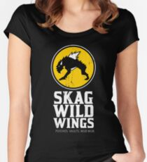 Skag Wild Wings (alternate) Women's Fitted Scoop T-Shirt