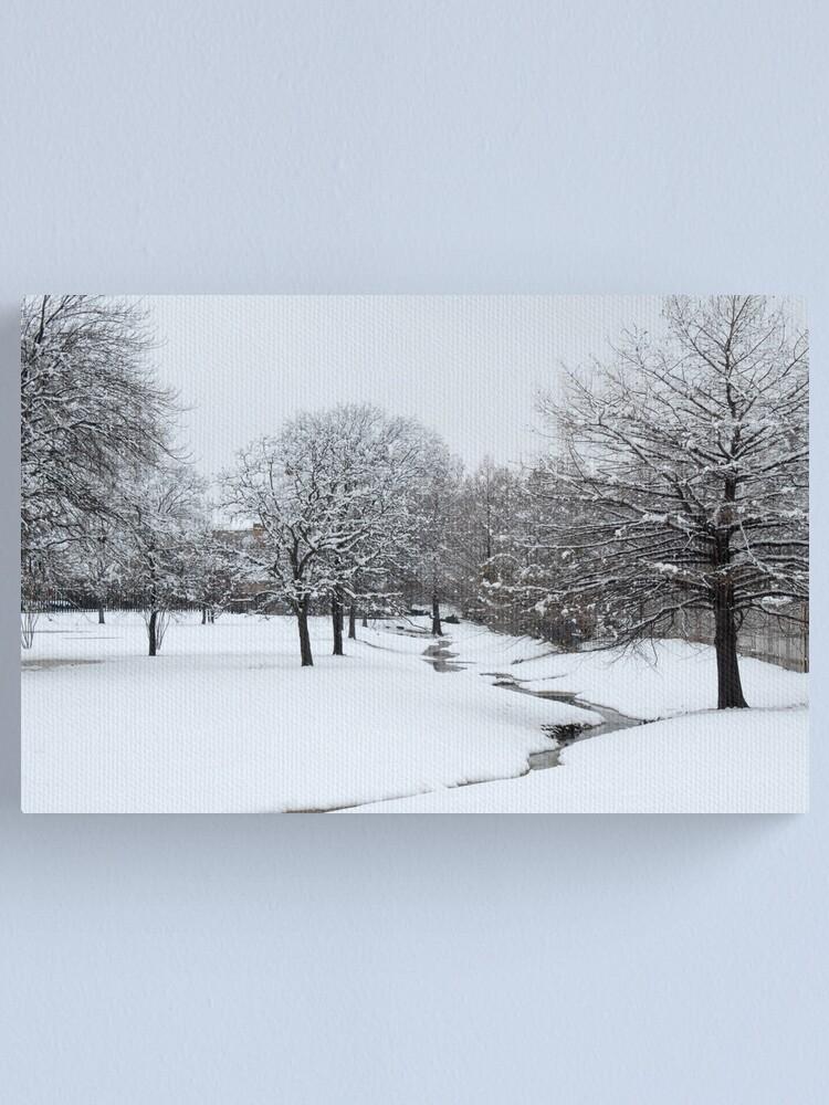 Alternate view of Snow in Highland Village Canvas Print