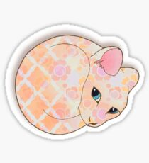 Introvert Kitten - patterned cat illustration Sticker