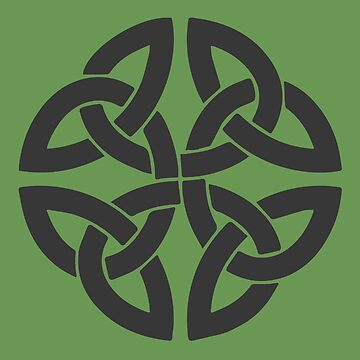 Celtic Shamrock Tribal Knot In Gray by taiche