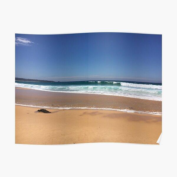 Rolling Waves at Merimbula Surf Beach  Poster