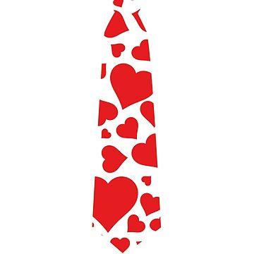 Valentines Day Tie Hearts Shirt by trendingorigins