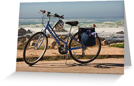 Bike at the beach by Sue Leonard