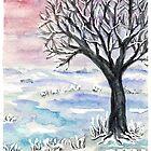 Dream Landscape with Snowy Tree by CarolineLembke