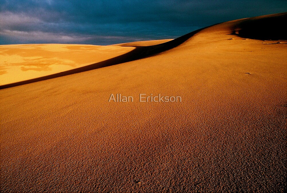 Guadalupe Dunes sunset, winter solstice... by Allan  Erickson
