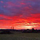 Fiery Skies over Chilton Trinity by kernuak