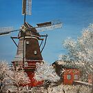 Windmill In Winter by Kashmere1646