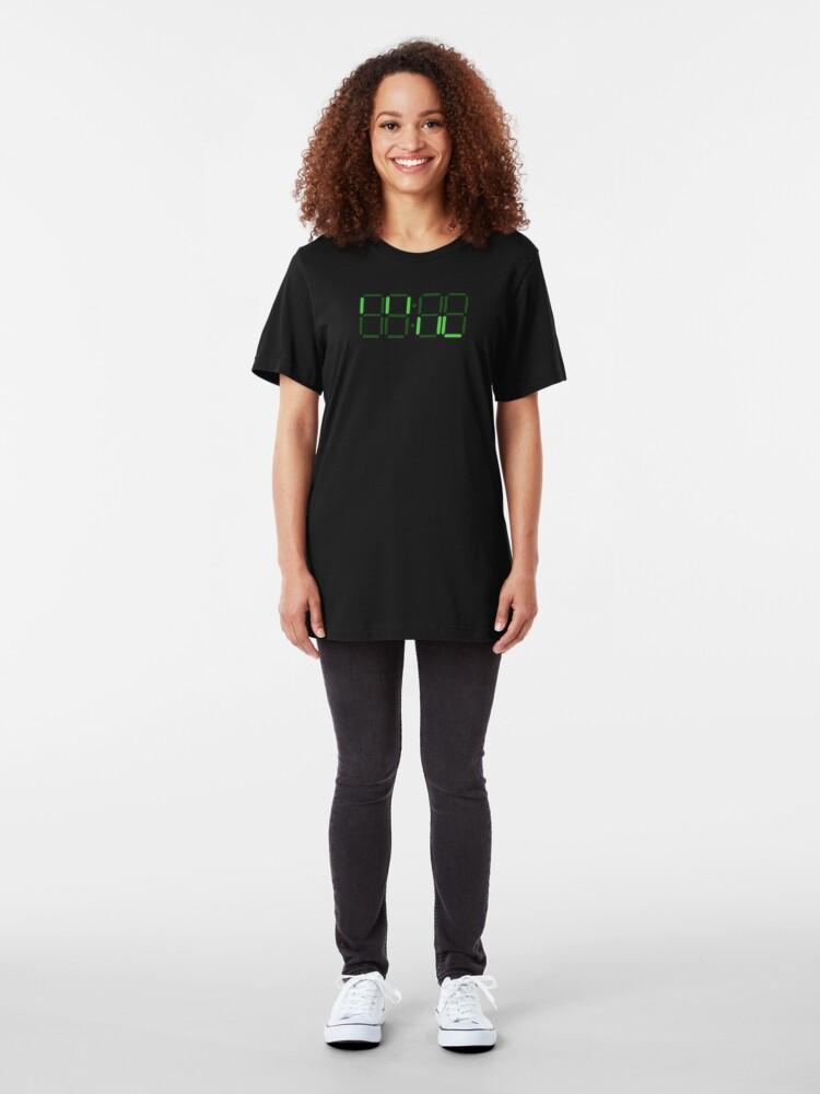 Alternate view of Loss - Digital Clock Slim Fit T-Shirt