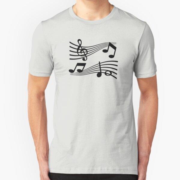 Loss - Music Slim Fit T-Shirt