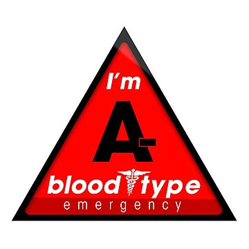 A- blood type information / stay safe, I suggest application to helmets by VisualAffection