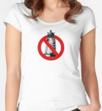 WHO you gonna call? White Women's Fitted Scoop T-Shirt