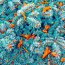 Winter Lush #illustration #nature by 83oranges