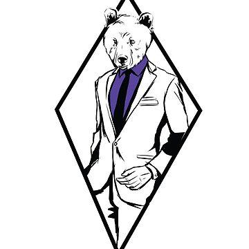 Bear in Formal Suit by litteposterco