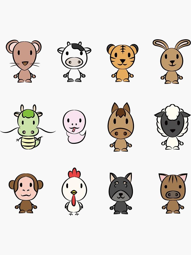 Chinese Zodiac sign by hichako