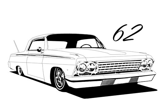 quot 62 impala lowrider quot poster by thornyroseshop redbubble