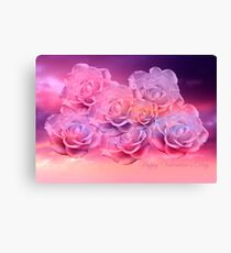 Soft Roses Art Work For Valentines Day Canvas Print